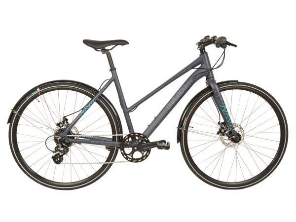 Micado Sport - City Bike - Dame - 8 gear - Skivebremser - Matgrå/blå - 56cm
