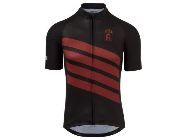 AGU - Classic - Cykeltrøje med korte ærmer - Sort/Rød - Str. M