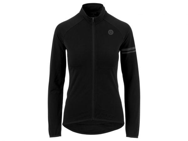 AGU Essential Thermo Jersey - Dame cykeltrøje L/Æ - Sort - Str. S