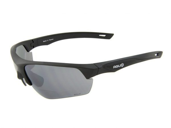 AGU Medina Bifocal - Cykelbrille med læsefelt og 3 sæt linser - Sort - +1.00