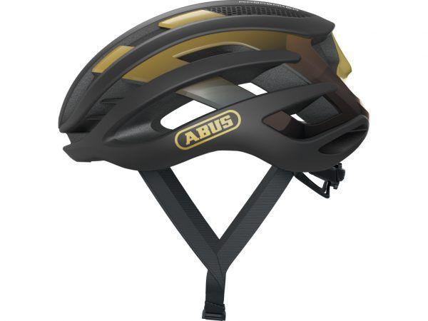 Abus AirBreaker - Cykelhjelm - Sort/guld - Str. 51-55cm