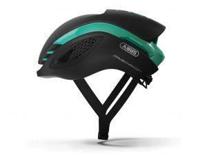 Abus GameChanger - Aero cykelhjelm - Sort / celeste grøn - Str. S