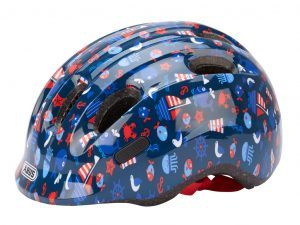 Abus Smiley 2.1 - Børnecykelhjelm - Blå maritim - Str. 45-50cm