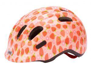 Abus Smiley 2.1 - Børnecykelhjelm - Rosa jordbær - Str. 50-55cm