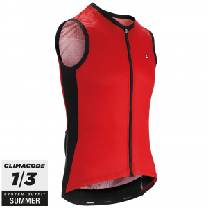 Assos Cykeltrøje Mille GT No Sleeve Jersey, Red