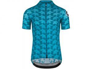 Assos FASTLANE Diamond Crazy SS Jersey - Kortærmet Cykeltrøje - Blå