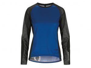 Assos Trail Womens Jersey - Dame MTB cykeltrøje med lange ærmer - Blå - Str. L