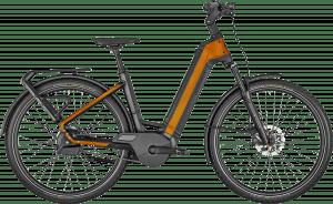 Bergamont E-Ville Pro Belt Premium 2022 - Sort/Orange