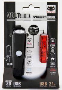 Cateye USB Lygtesæt Cateye VOLT80/Rapid Micro