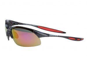 Demon 832 DCHANGE - Løbe- og cykelbrille med 3 linser, carbon look