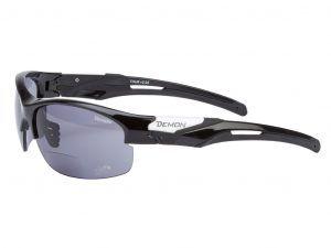 Demon Tour - Løbe- og cykelbrille med +2,00 læsefelt smoke linse - sort