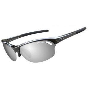 Fra Tifosi Wasp Gloss sort Smoke/rød/klar cykelbriller