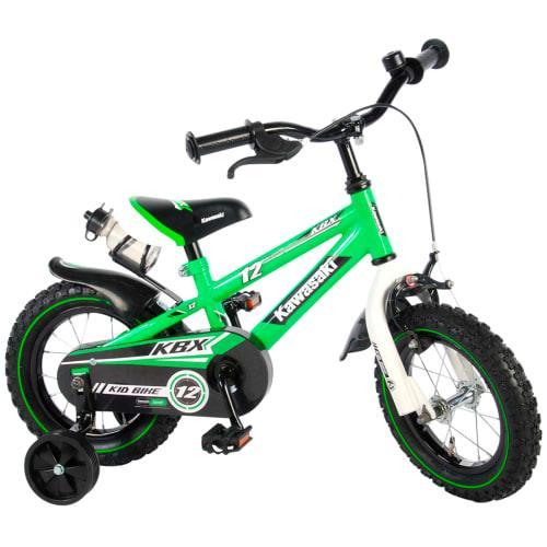 """Kawasaki 12"""" børnecykel - Grøn"""