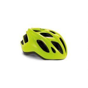 MET Helmet Active/Crossover Espresso - Safety Yellow/Glossy - Cykelhjelm
