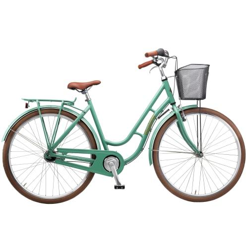 """Mustang Dagmar 28"""" damecykel med 3 gear - Beryl green"""