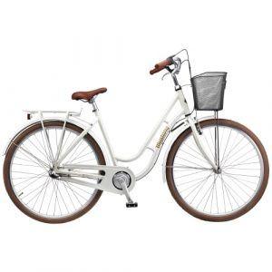 """Mustang Dagmar 28"""" damecykel med 3 gear - Pearl white"""