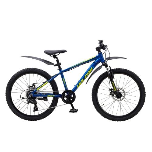 """Mustang Vulcan TX550 24"""" mountainbike med 8 gear - Blue/green"""