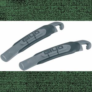 Sæt bestående af 2. stk dækjern med gummibelægning