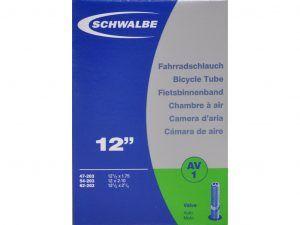 Schwalbe slange 12 1/2 x 2.1/4 med Auto ventil AV1
