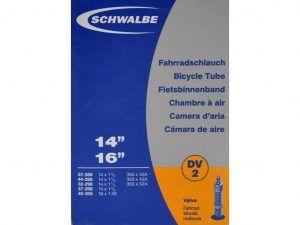Schwalbe slange 14 x 1. 3/8 med almindelig ventil DV2