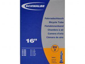 Schwalbe slange 16 x 1,75-2,50 med almindelig ventil DV3