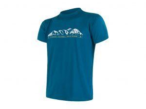 Sensor Coolmax Fresh PT Mountain - T-shirt med korte ærmer - Str. M - Blå