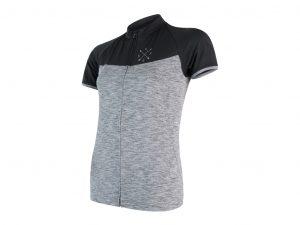 Sensor Motion FZ Jersey - Dame Cykeltrøje med kort ærme - Grå/Sort - Str. S