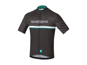 Shimano Team Junior - Cykeltrøje med korte ærmer - Blå/Grøn - Str. Large