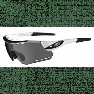 Tifosi Alliant hvid/sort cykelbrille med Smoke/rød/klar linser