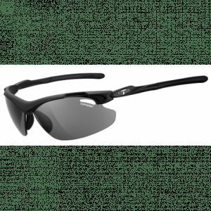 Tifosi Tyrant 2.0 mat sort cykelbrille med smoke/rød/klar linser