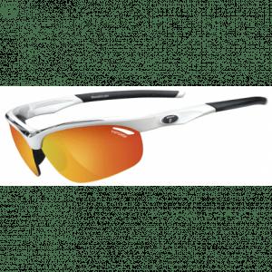 Tifosi Veloce hvid/sort cykelbrille med rød/rød/klar linser