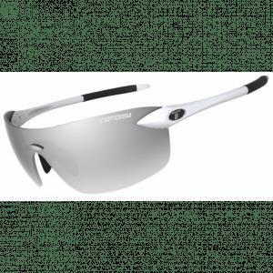 Tifosi Vogel 2.0 Gloss hvide cykelbriller med smoke lens