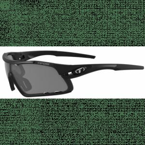 Tifosi mat sorte Davost cykelbriller med Smoke/red/clear linser