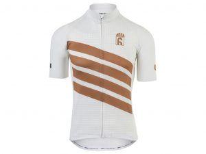 AGU - Classic - Cykeltrøje med korte ærmer - Hvid/Guld - Str. L