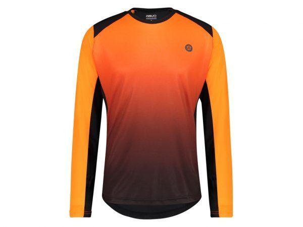 AGU - Cykeltrøje med lange ærmer - Loose fit - MTB - Neon Orange - Str. L