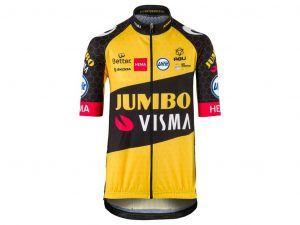 AGU Jumbo Visma Replica Kids - Cykeltrøje med korte ærmer - Str. 7-8 år