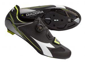 Diadora - Vortex Racer II - Cykelsko - Unisex - Sort/Hvid - Str. 42