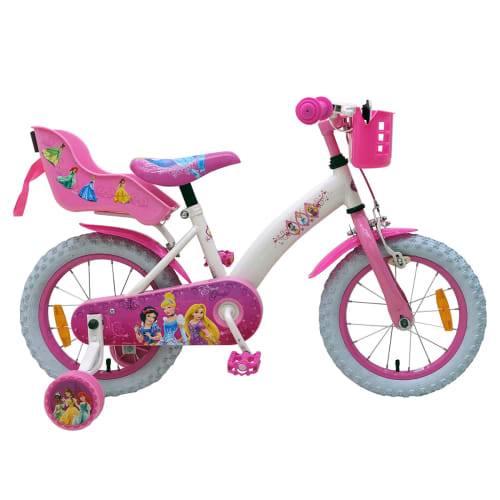 "Disney Princess 14"" pigecykel - Pink/hvid"
