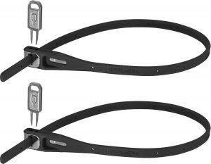 HIPLOK Z LOK, Café Lås Twin Pack Cable lock - Sort