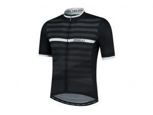 Rogelli Stripe - Cykeltrøje - Korte ærmer - Sort/Hvid - Str. 2XL