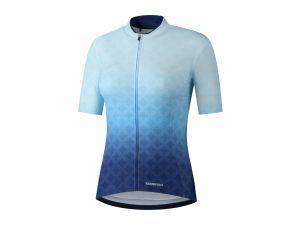 Shimano Sumire - Cykeltrøje med korte ærmer - Dame - Blå - Str. S