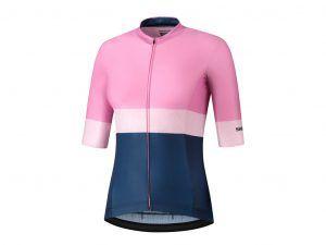 Shimano Yuri - Cykeltrøje MTB med korte ærmer - Dame - Rosa/Blå - Str. XS