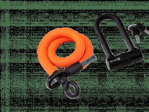 Texlock Eyelet X-LOCK - Cykellås - Tekstillås - Orange - Str. S 80 cm