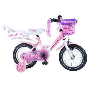 "Volare Rose 12"" pigecykel - Hvid/pink"