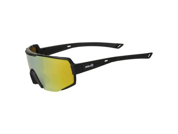 AGU - Sports- og Cykelbrille - Sort/Guld