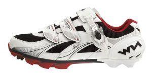 NorthWave Vega SBS Dame MTB-sko, white/red