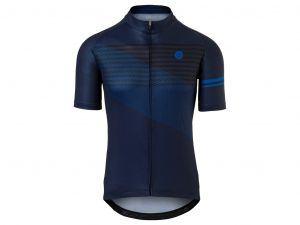 AGU Jersey Striped - Cykeltrøje - Deep Blue - Str. L