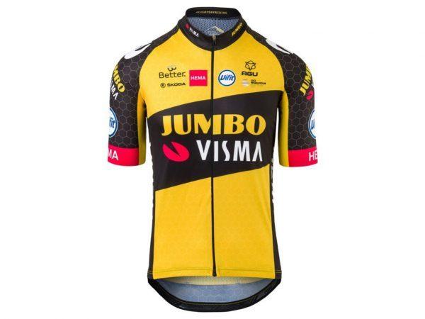 AGU Jumbo Visma Replica - Cykeltrøje med korte ærmer - Str. M