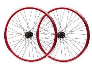 Hjulsæt 700c Single Speed Rød/Sort