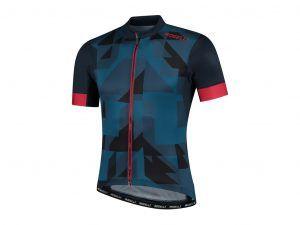 Rogelli Brisk - Cykeltrøje - Korte ærmer - Blå/Rød - Str. 2XL